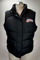 US Ski Snowboard Team Womens Duck Down Puffer Vest Jacket Size Large Black Zip