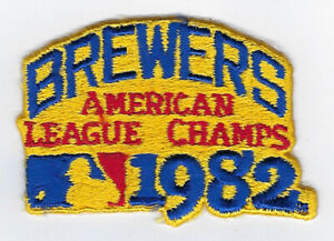 1982 Milwaukee Brewers American League Champs patch World Series Robin Yount