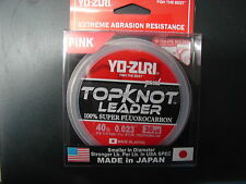 YO-ZURI TOPKNOT LEADER SUPER FLUOROCARBON 40lb 30yd R1232-DP Disappearing Pink