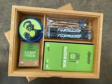 Wooden Stash Box with Rolling Tray  and accessories