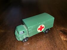 Vintage Lesney Matchbox 63-A Military Ambulance with Black Plastic Wheels