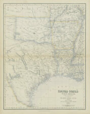 United States South Central. Texas Louisiana Arkansas. Dallas. SWANSTON 1860 map