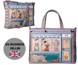 Mala Leather Beau Dog Pampering Parlour Crossbody/grab Bag premium leather