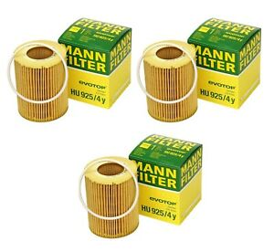 For Volvo S60 S80 V70 XC60 XC70 XC90 Set of 3 Oil Filter 3.0-3.2L MANN LR001419