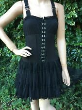 Poizen Industries Black Gothic Steampunk Corset Dress Size Small 8-10