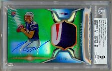 2014 Topps Platinum Jimmy Garoppolo Patch Auto Rookie RC /99 BGS 9/10 Green 9.5