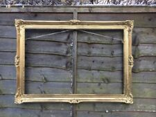 A Very Large Antique French Rococo Baroque Art Nouveau Style Gold Gilt Frame