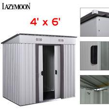 4' x 6' Outdoor Storage Shed Box Steel Utility Tool Backyard Garden Lawn Garage