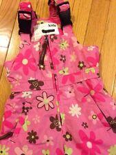 Company Kids Pink Flower Girls Toddler Snowpants Snow Pants Bib 2t