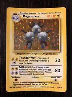 Magneton 9/102 Holo Rare Base Set 1999 Pokemon Card