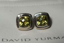 David Yurman 925 Silver Lemon Citrine Large 17mm ALBION Earrings With DY Pouch