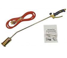 Long Arm Butane Propane Torch Gas Weed Burner Regulator Hose Roofer Plumber Kit