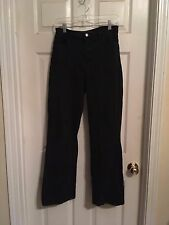 NYDJ Not Your Daughter's Jeans Black Woven Cotton Blend Tummy Tuck Jeans Sz 8