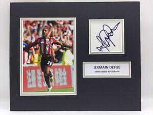 RARE Jermain Defoe Sunderland Signed Photo Display + COA AUTOGRAPH v NEWCASTLE