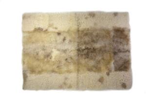 "Virus Resistant Sheepskin Meditation Rug Eco-Friendly Wool Pad Beige 2'6""x3'5"""