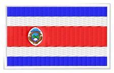 Flag Costa Rica Bandera de Costa Rica Parche bordado Thermo-Adhesivo  patch