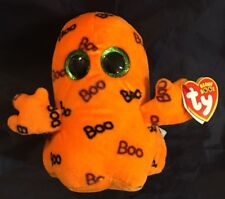 TY beanie boo Ghoulie - Trick or Treat Halloween Plush Sparkle Eyes - NWT Oct 8