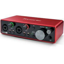 Focusrite Scarlett 2i2 3rd Gen USB Audio Interface + Comprehensive Plugin Bundle