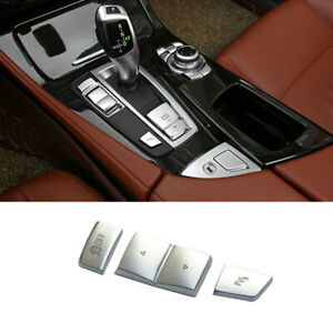 For BMW 5 6 7 Series X3 F25 X4 F26 3x Chrome Gear Shift Side Buttons Cover Trim
