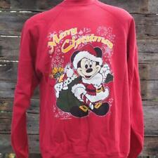 Vintage Disney Mickey Mouse Ugly Weihnachten Sweatshirt Größe Lt