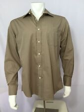 COVINGTON Dress Shirt Mens SIZE 16-16 1/2 L/G 34-35 Tan Long Sleeve Button Down