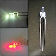 2mm Dual LEDs BRIGHT WHITE / RED common anode x10