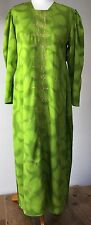 """bright green traditional saree dress with gold embroidery 38"""" b"""