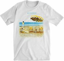 Authentic NEIL YOUNG On The Beach Slim Fit T-Shirt White S-2XL NEW