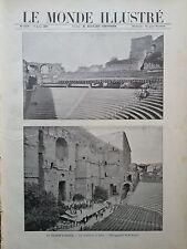 LE MONDE ILLUSTRE 1897 N 2106 LE THEATRE D'ORANGE: LES GRADINS ET LA SCENE