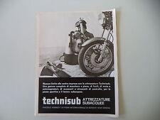 advertising Pubblicità 1973 TECHNISUB TECHNI SUB - GENOVA
