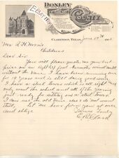 1905 CLARENDON TEXAS Morgan Burton Sheriff Patman PEEBLES Martin NAYLOR Clower