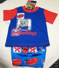 Western Bulldogs AFL Boys 2 Piece Cotton / Satin Pyjama Set Size 00 New
