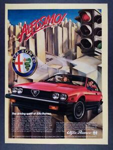 1984 Alfa Romeo GTV6 red car art vintage print Ad