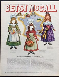 Betsy McCall Mag. Paper Doll, Betsy McCall Writes from France, July 1970