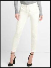 NEW GAP LACE  UP MID RISE TRUE SKINNY JEANS 28 6