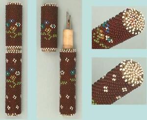 Antique Beaded Needle Case * English * Circa 1850