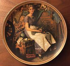 Lot 2 Vintage Bradford Exchange Collector Plates Norman Rockwell John McClelland
