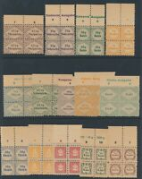 Lot Stamp Germany Revenue Blocks WWII 3rd Reich Ration Food Nutrition Set MNG 2