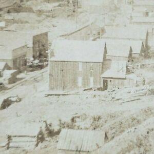 South Dakota Black Hills Deadwood Gulch Central City Mining Town Stereoview B164