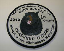 2010 ONTARIO MNR BEAR HUNTING PATCH moose,deer,elk,hunter,canadian,patches,badge