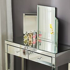 Rectangle Glass Triple Folding Mirror Make up Dressing Table Top Standing