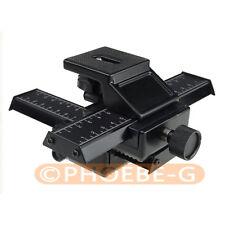 4 WAY macro cursore di messa a fuoco RAIL shot per Canon Nikon Pentax SLR DSLR DC