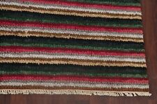 Striped Color-full Hand-Hooked Oriental Area Rug MODERN Living Room WOOL 8'x11'