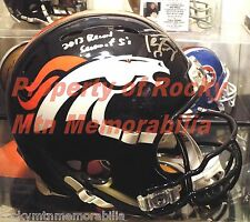 PEYTON MANNING Signed/Autographed Broncos Revolution Helmet Insc Record SB 50