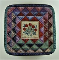 THE OCEAN WAVE Plate Cherished Traditions #4 Quilt Mary Ann Lasher Bradford Exch