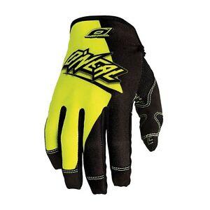 O'Neal Jump Flow Full Finger MTB DH FR Mountain Bike Gloves Size S Black Yellow