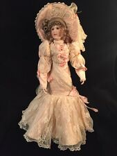 "Maryse Nicole Franklin Mint Heirloom Marguerite Doll porcelain 19"" Victorian"