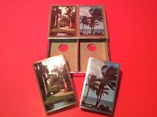 Congress Playing Cards Set Uncut Tax Stamps Double Deck W/ Tropical FL Pictures