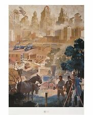 "Wilbur Kurtz ""Forward Atlanta"" Lithograph 32""x 23"" Signed Limited Edition"