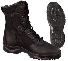 """Tactical Boots 8"""" Black Side Zipper Forced Entry Tactical Boots 5053"""
